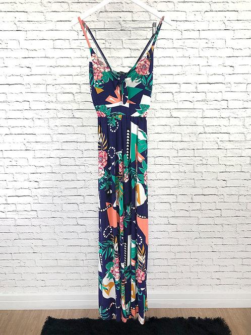 Vestido Longo com Bojo Floral
