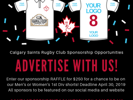 Sponsorship Raffle - Closes April 30, 2019