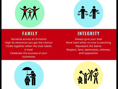 Calgary Saints Core Values