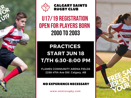 U17 and U19 Registration is OPEN!