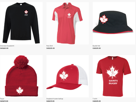 KIT STORE // Saints t-shirts, hats, toques and sweatshirt!