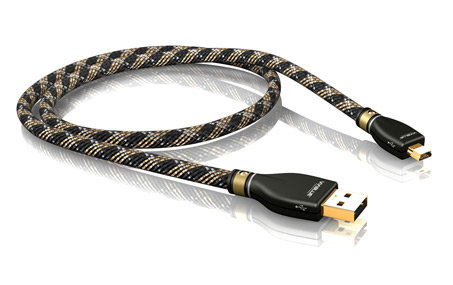 KR-2 Silver USB cable (USB A - USB B MINI)