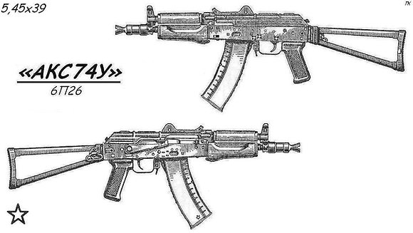 kit for AKS74U Krinkov 1993 Tula (CX SX)