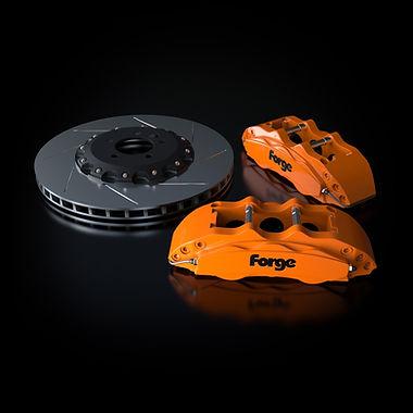 Raceline Forge 356 mm Big Brake Kit   Orange
