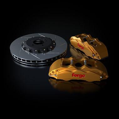 Raceline Forge 356 mm Big Brake Kit   Gold