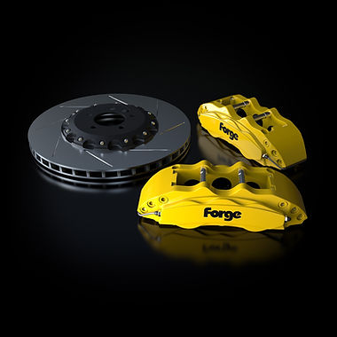 Raceline Forge 356 mm Big Brake Kit   Yellow