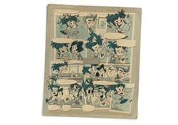 retro duplitone comic-art