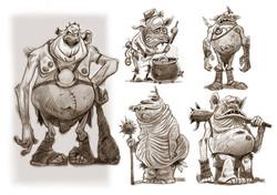 oodles of ogres..