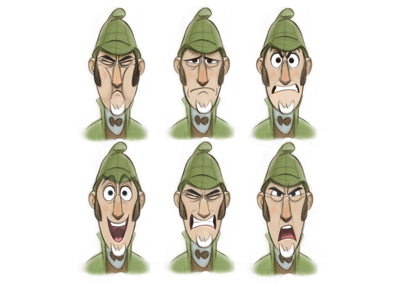 Character Design Sherlock Gnomes