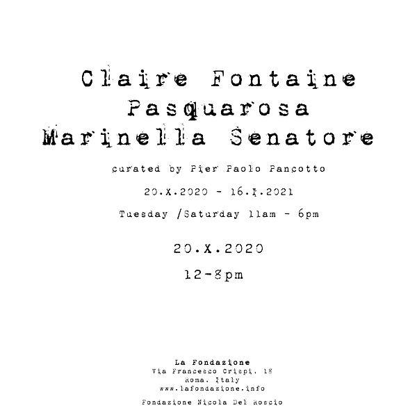 Claire Fontaine | Pasquarosa | Marinella