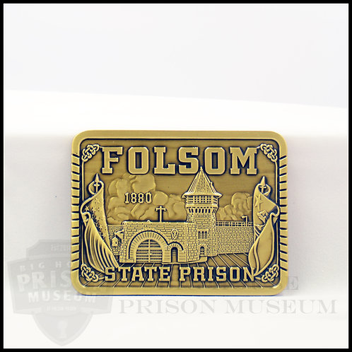 Folsom State Prison Belt Buckle-Rectangle