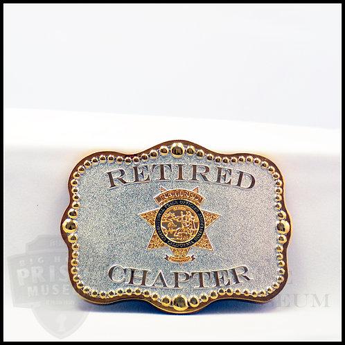 Retired Officers Belt Buckle-Rectangle