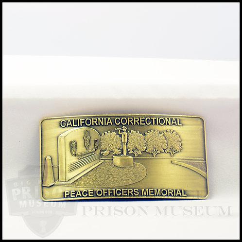California Correctional Memorial Belt Buckle-Rectangle