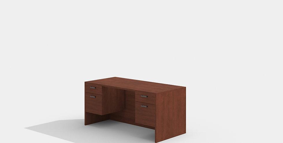 Cherryman Double Suspended Pedestal Desk (Cherry)