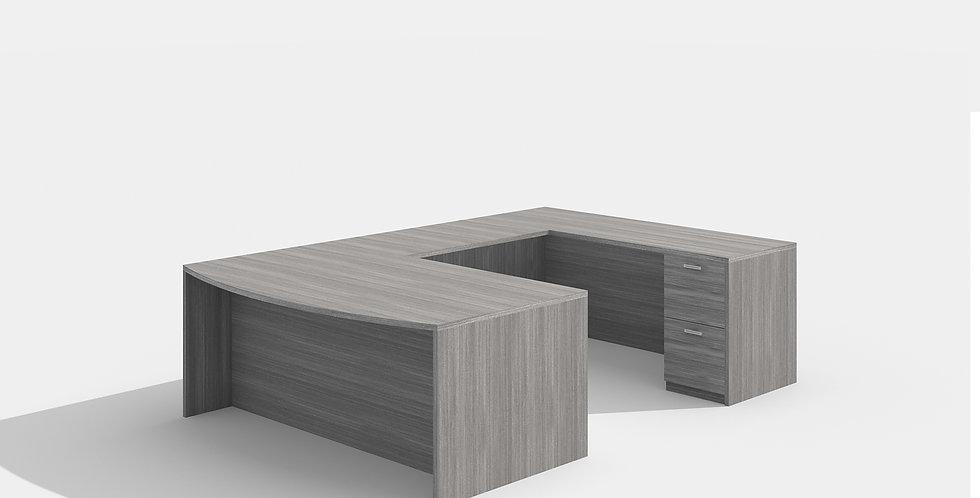Cherryman Bowfront Desk (Grey)