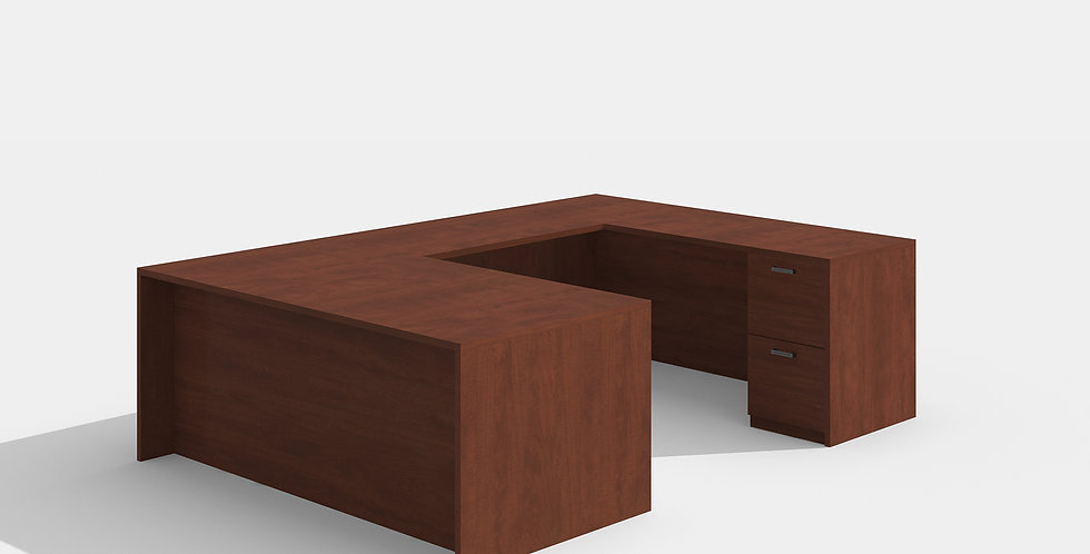 Cherryman U-Shape Desk (Cherry)
