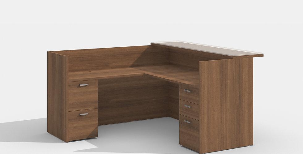 Cherryman Reception Desk (Walnut)