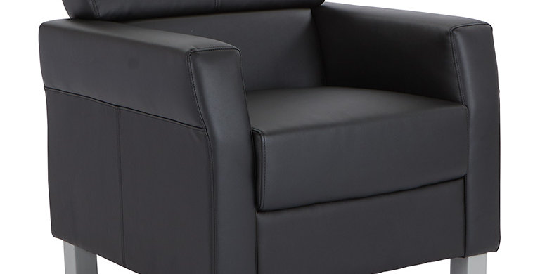 OSP Black Leather Club Chair