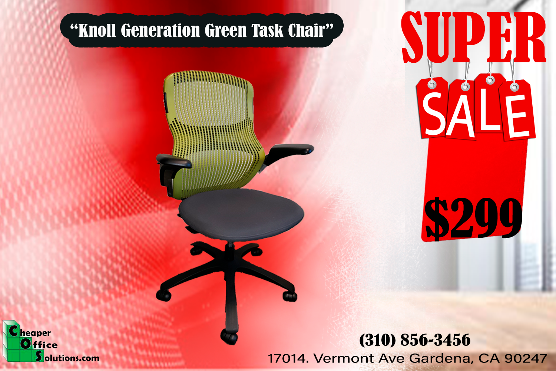 Knoll Generation Green Task Chair