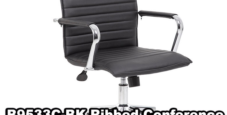 Boss Ribbed Black Back Task Chair