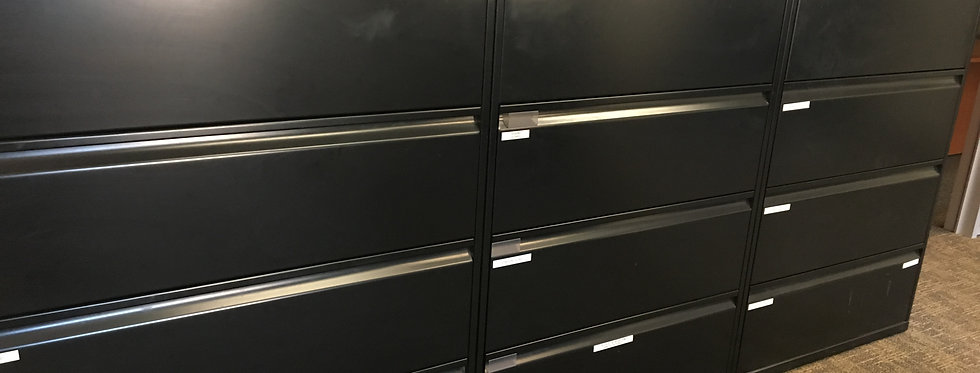 Knoll 4 Drawer Lateral (Black)