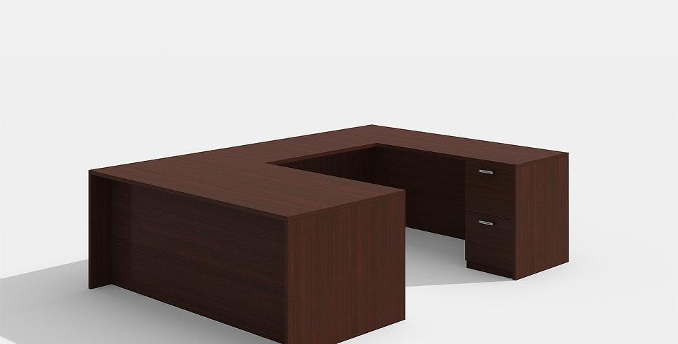 Cherryman U-shape Desk (Mahogany)