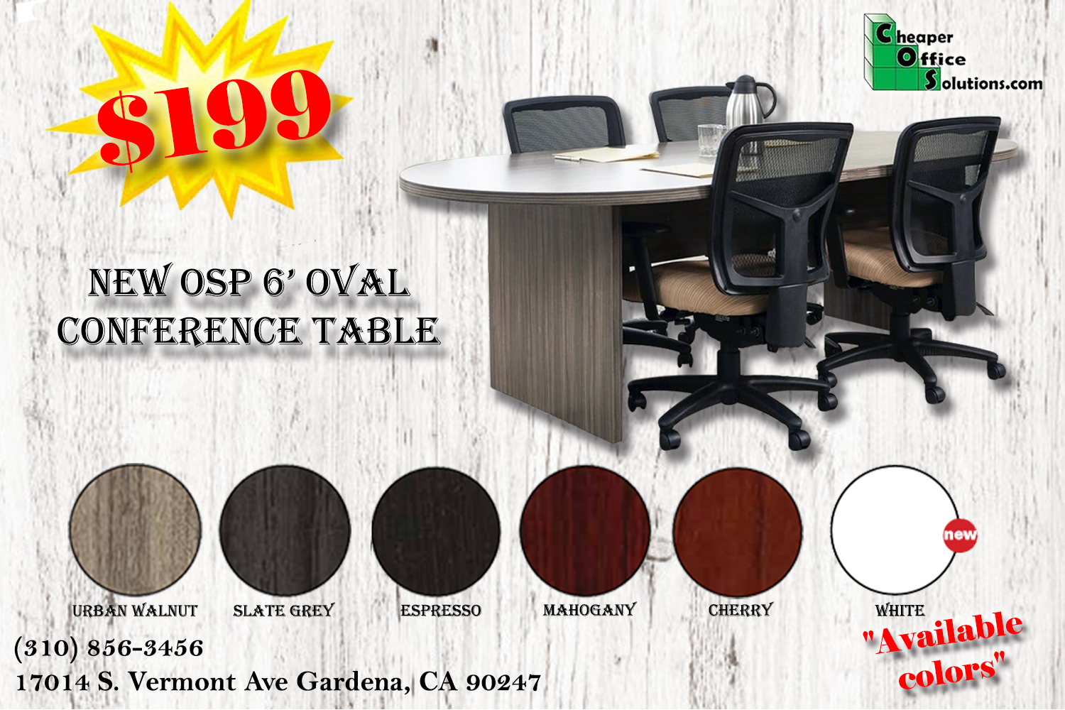NEW OSP 6' Conference Table