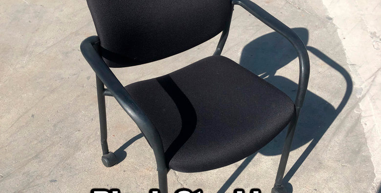 Black Stacking Chairs with Casters