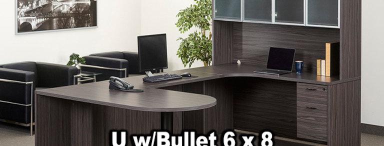 OSP U w/Bullet 6'x8' Desk and Hutch