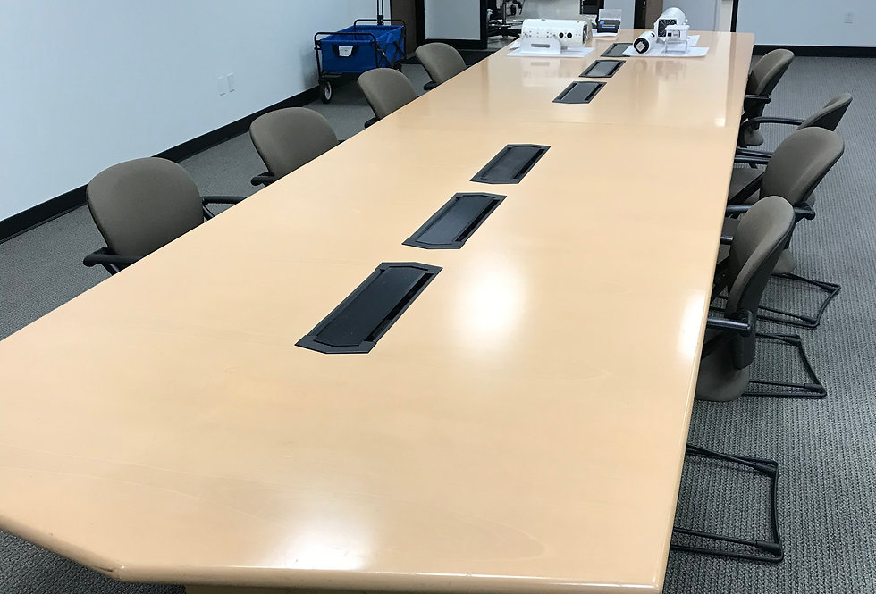 Maple 18' Conference Table with POWER