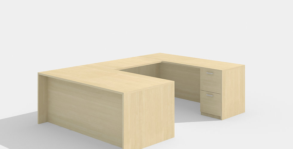 Cherryman U-Shape Desk (Maple)