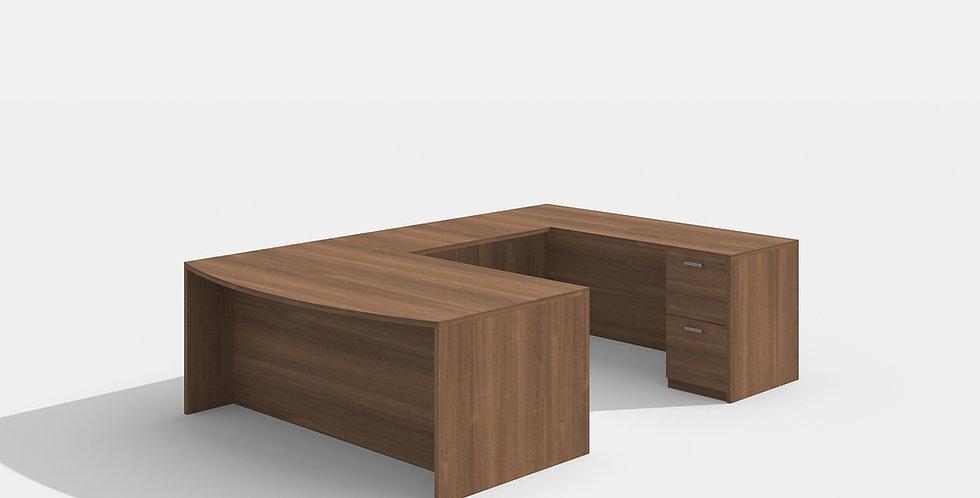 Cherryman Bowfront Desk (Walnut)