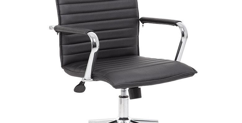 Boss Ribbed Black Back Task Chair