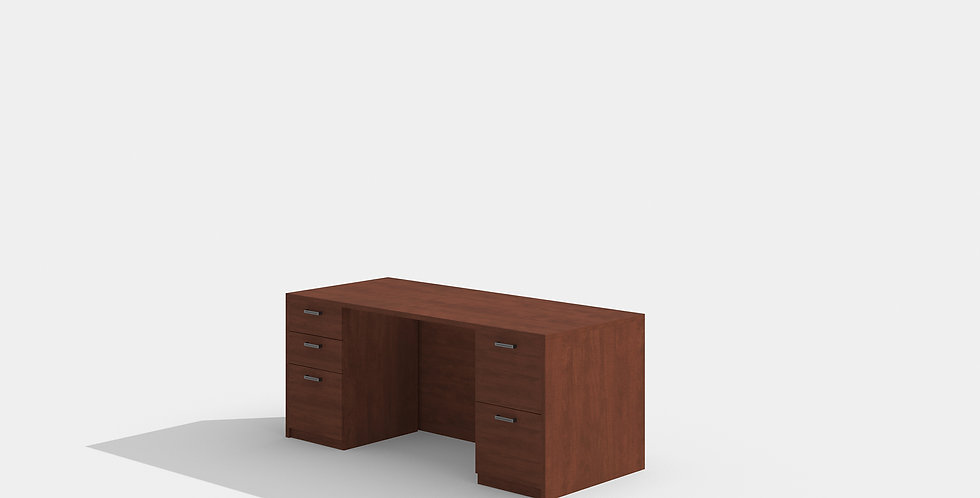 Cherryman Double Pedestal Desk (Cherry)