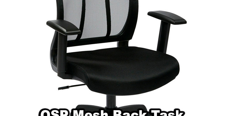 OSP Screen Back Chair with Adjustable Arms