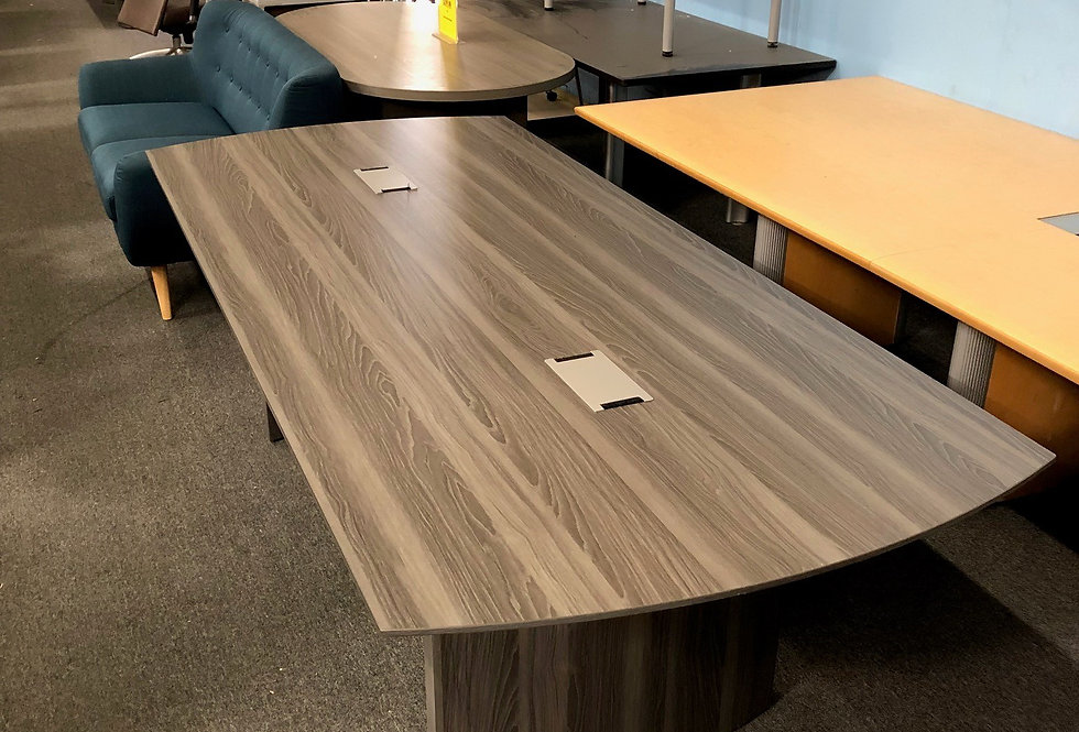 8' Grey Conference Table