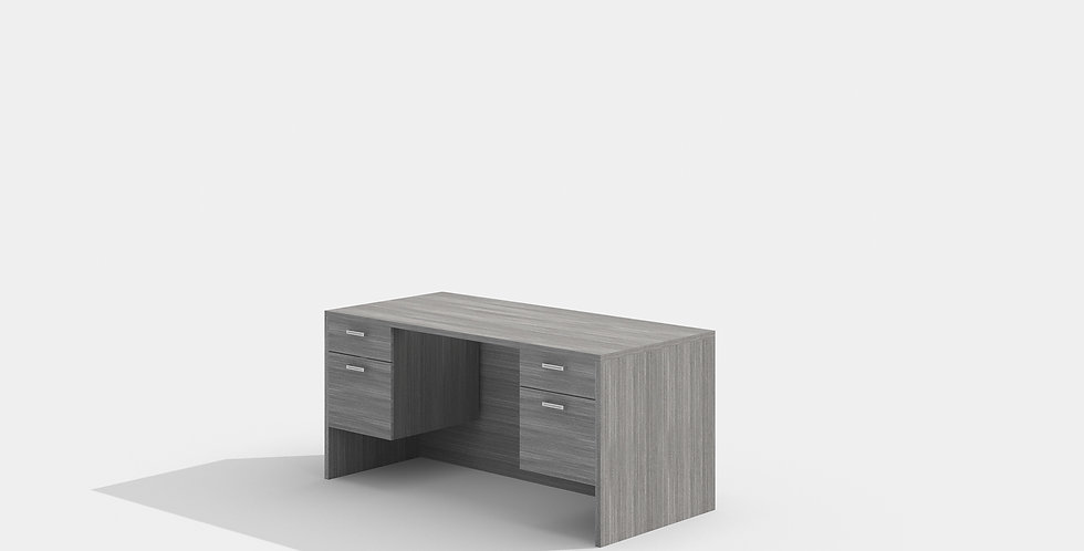 Cherryman Double Suspended Pedestal Desk (Grey)
