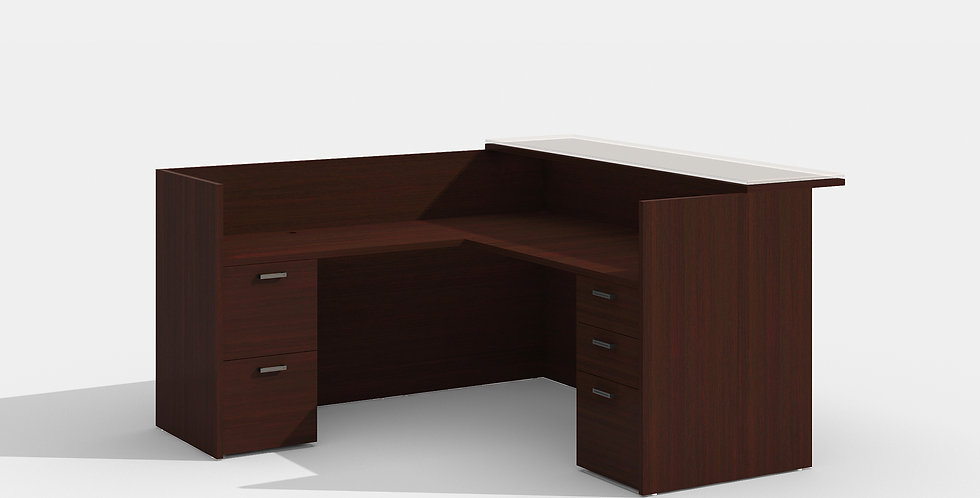 Cherryman Reception Desk (Mahogany)