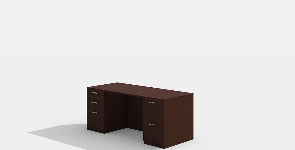 Cherryman Double Pedestal Desk (Mahogany)