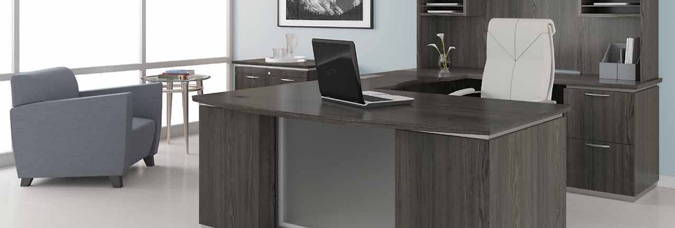 OSP Grey U-shape Executive Desk