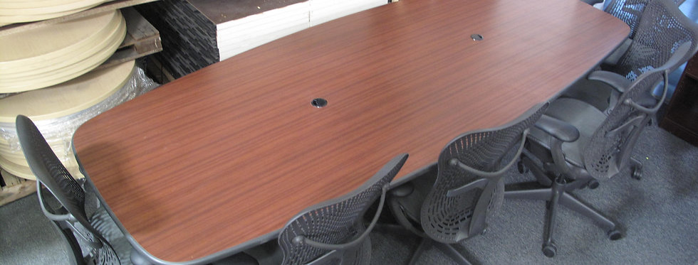 8x4 Mahogany Conference Table