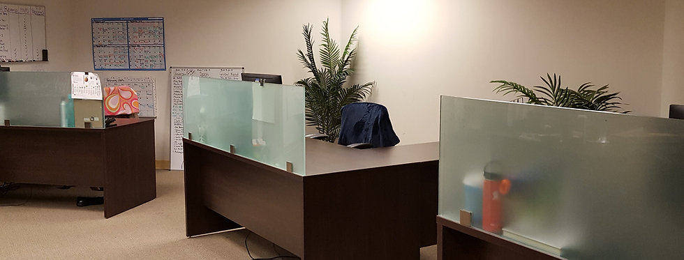 6x6 L-shape Desks with Glass