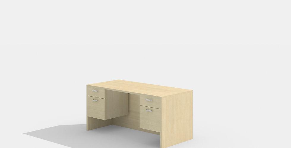 Cherryman Double Suspended Pedestal Desk (Maple)