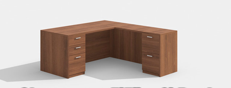 "Cherryman 5'5"" x 6'  L-Shape Desk"