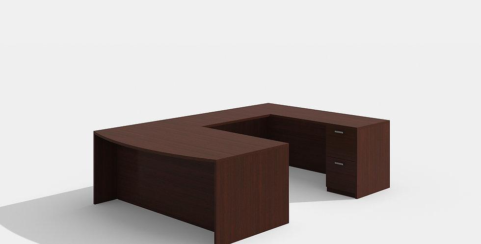 Cherryman Bowfront Desk (Mahogany)