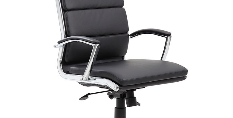 Boss CaressoftPlus Executive Chair with Metal Chrome Finish