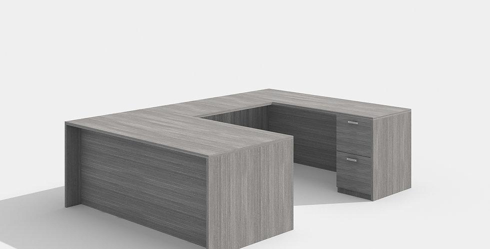 Cherryman U-Shape Desk (Grey)