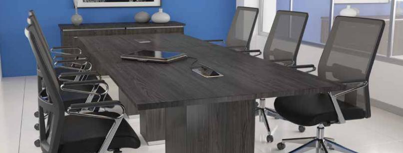 OSP Tuxedo Conference Table - Grey