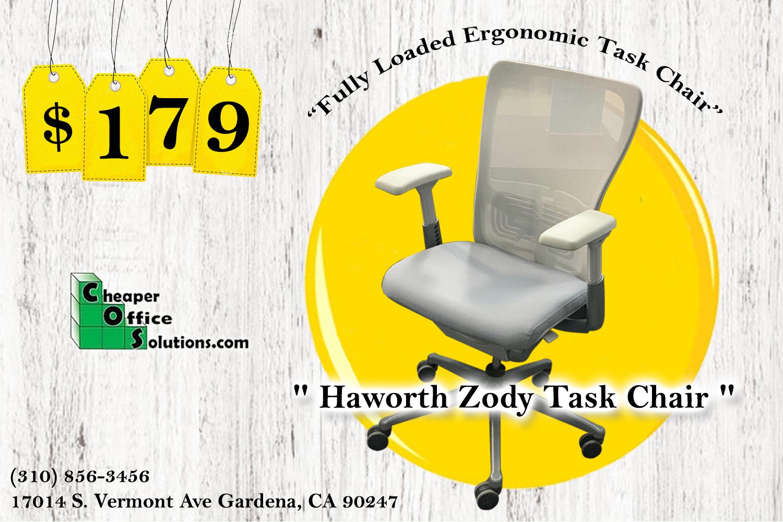 Haworth Zody Gray BLOWOUT AD NUEVO