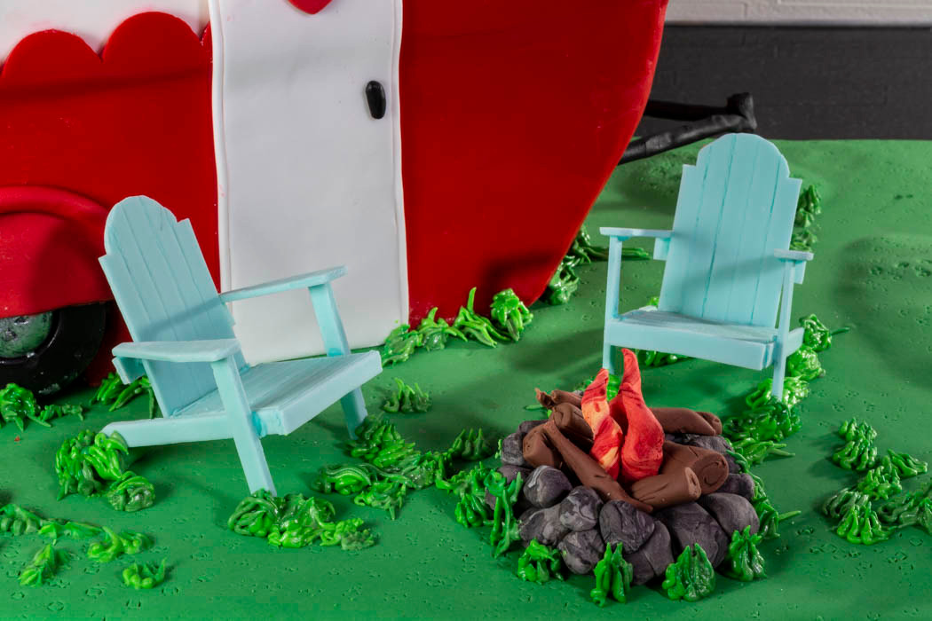 Adirondack Chairs by the Fire